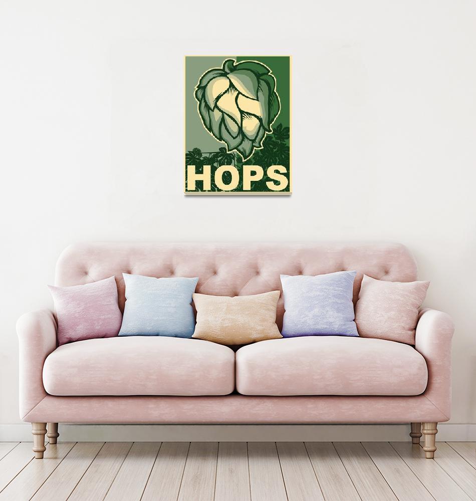 """""""Hops in green""""  (2014) by nealw6971"""