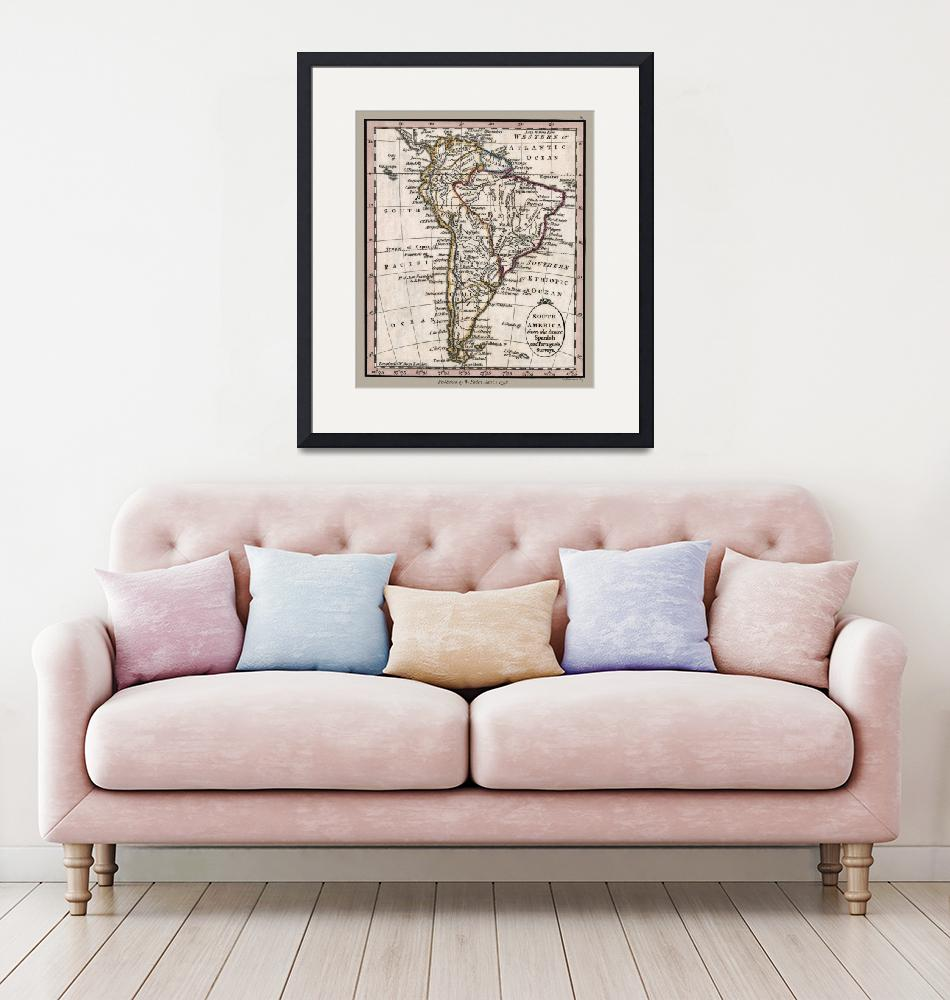 """""""South America Antique 1798 Map""""  (2020) by WilshireImages"""
