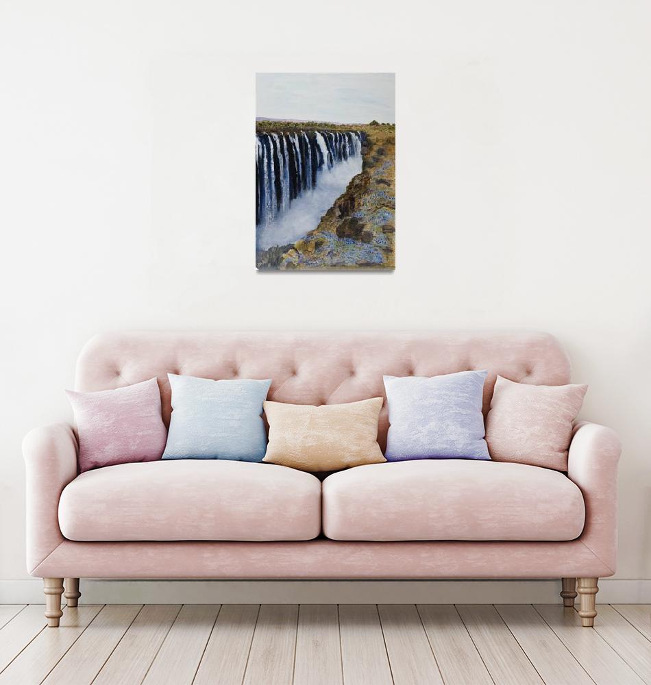 """Victoria Falls""  (2008) by JudithMacKay"