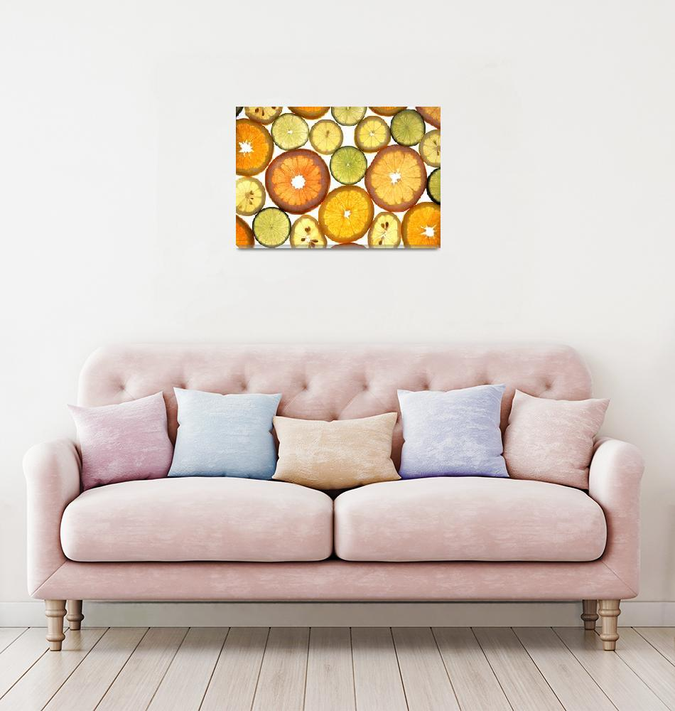 """""""Citrus Fruit Slices""""  by Alleycatshirts"""
