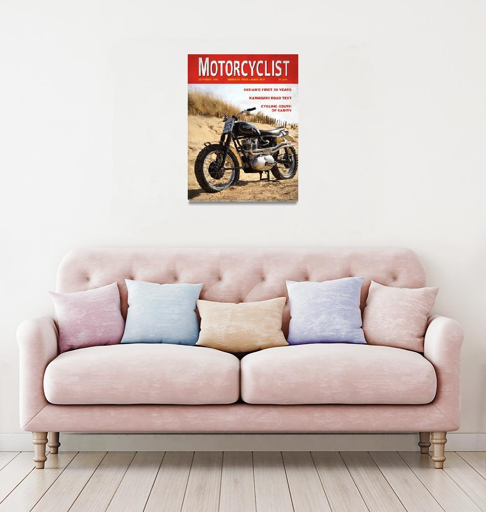 """Motorcycle Magazine Desert Sled 1966""  (2008) by mark-rogan"