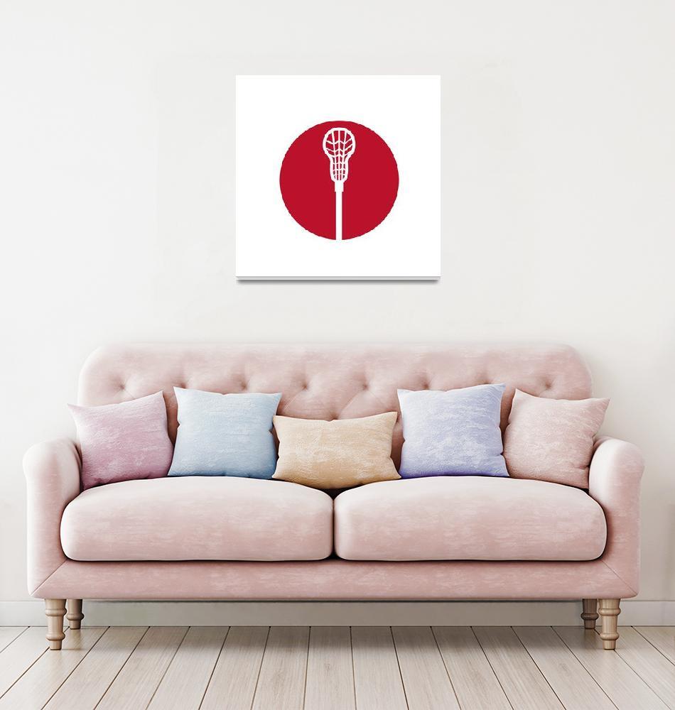 """Lacrosse Stick Circle Icon""  (2016) by patrimonio"