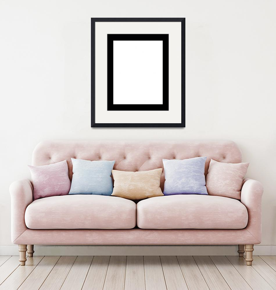 """""""White Frame with Decorated Borders""""  by danfleitesart"""