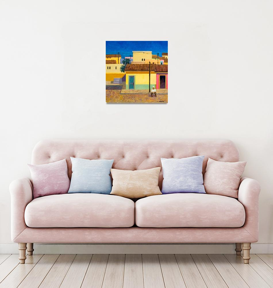 """""""Blue Door in Pueblo""""  (2006) by RICKKERSTEN"""