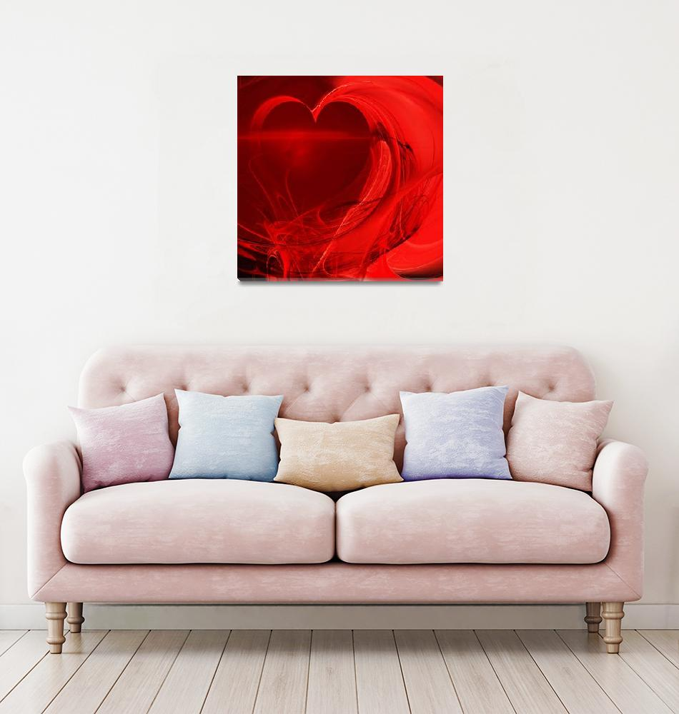 """""""Red Love . Square . A120423.279""""  by wingsdomain"""