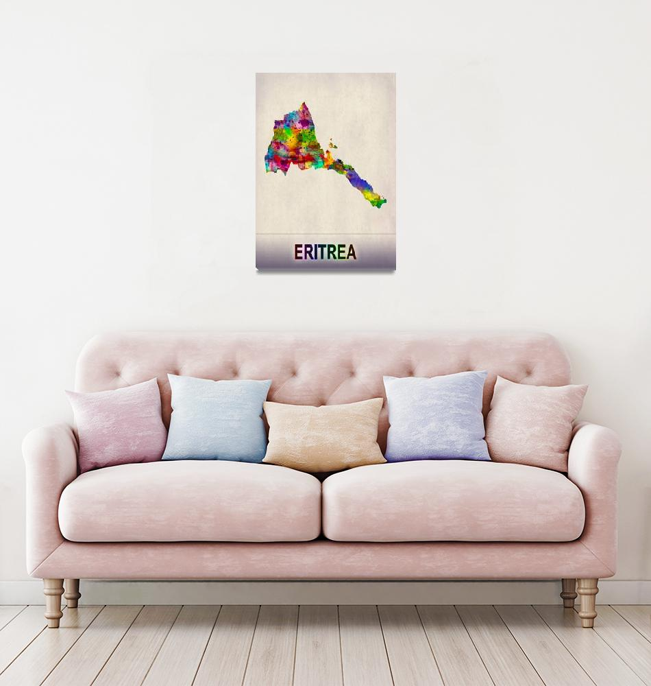"""""""Eritrea Map""""  by Towseef"""