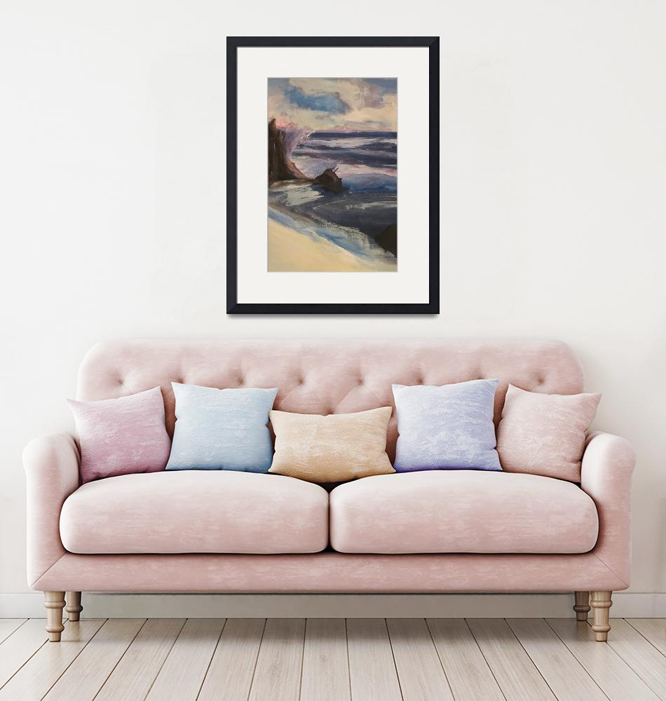 """""""Watercolor Beachscape""""  (2019) by ladytravel"""