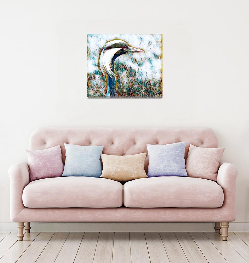 """""""Crane Bird Print""""  (2017) by rogueart"""