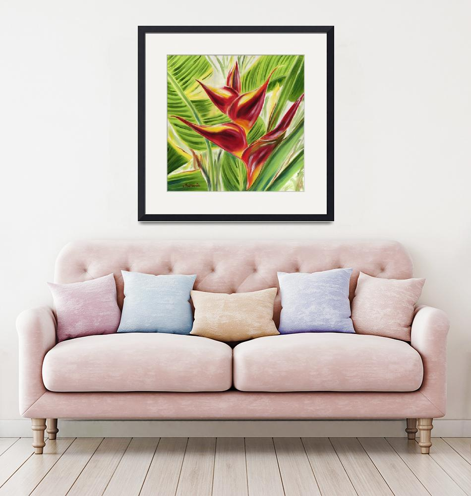 """""""Heliconia Flair""""  by JennyFloravita"""