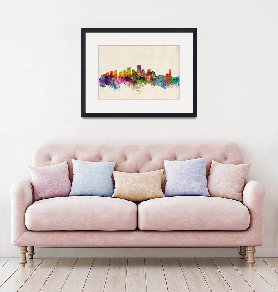 """New Orleans Louisiana Skyline""  (2013) by ModernArtPrints"