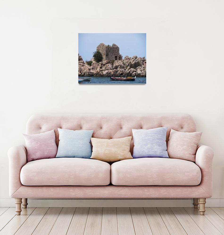 """Coastal Montenegrin Ruins""  (2018) by raetucker"