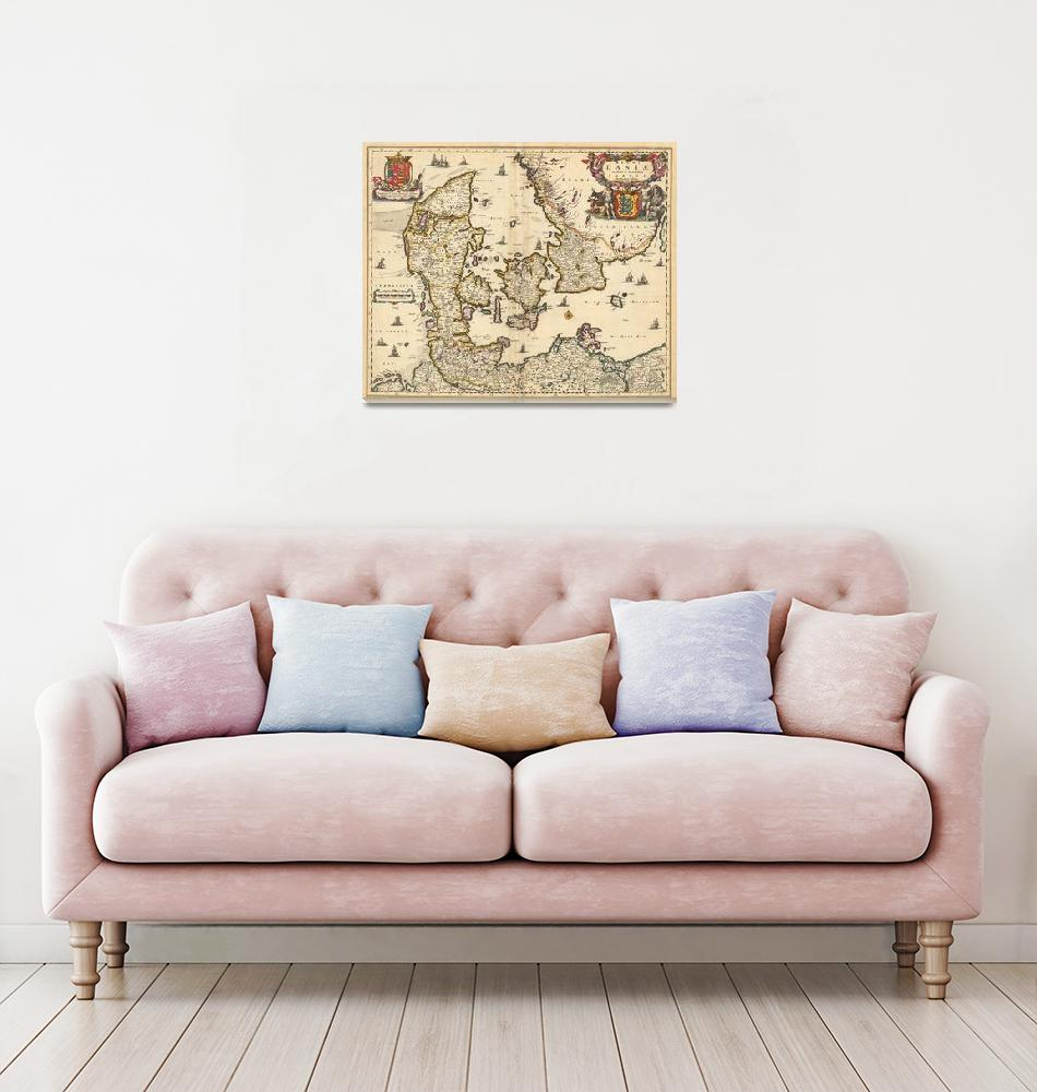 """""""Vintage Map of Denmark (1690)""""  by Alleycatshirts"""
