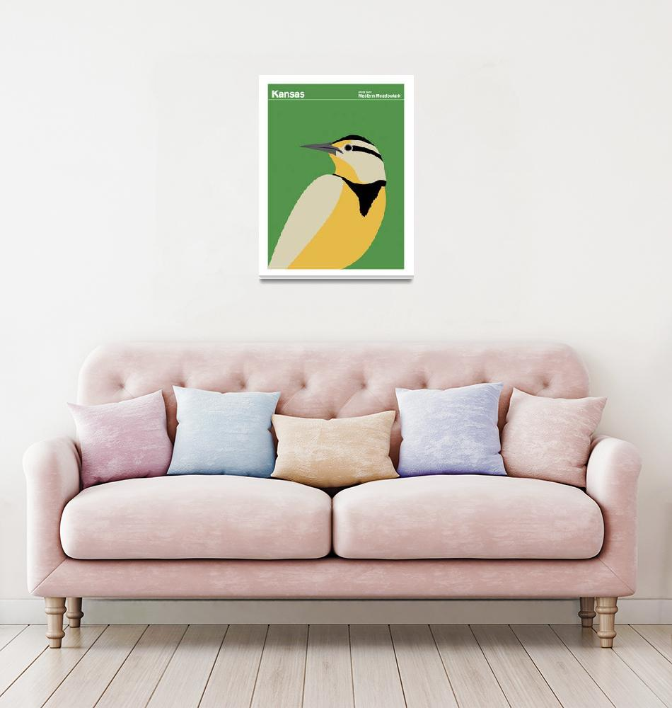 """Kansas State Bird: Western Meadowlark""  by artlicensing"