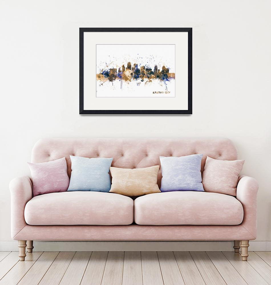 """Kansas City Skyline""  (2014) by ModernArtPrints"