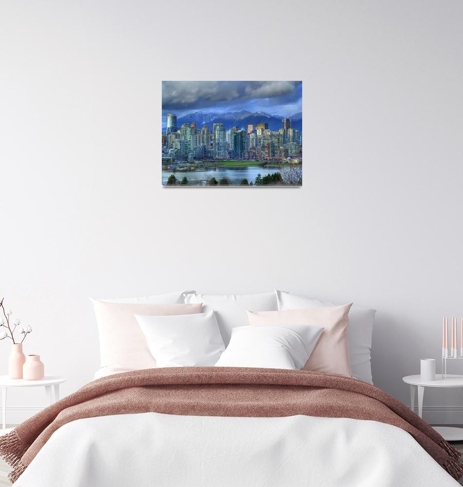 """Vancouver Skyline""  (2007) by LloydKBarnes"