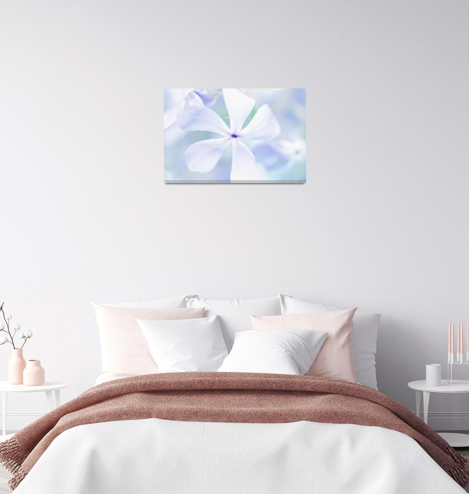 """Floral in Pastel Tones of Blue""  (2013) by NatalieKinnear"