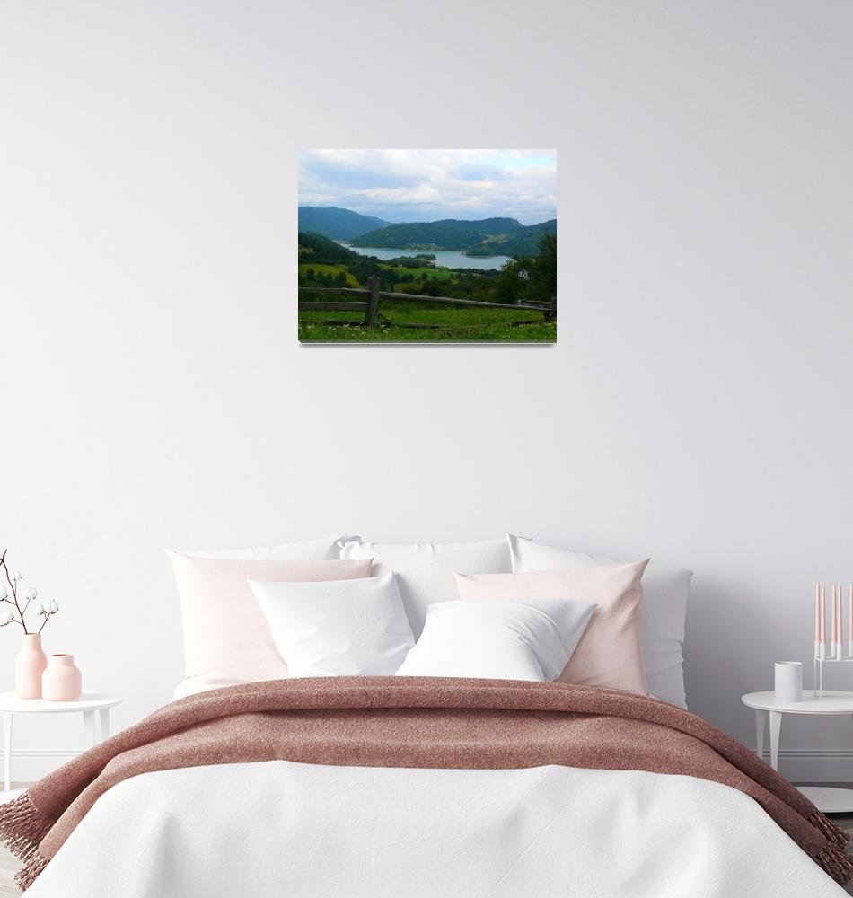 """Lake Zaovine, Tara mountain Serbia -original photo""  (2013) by watercolorart"