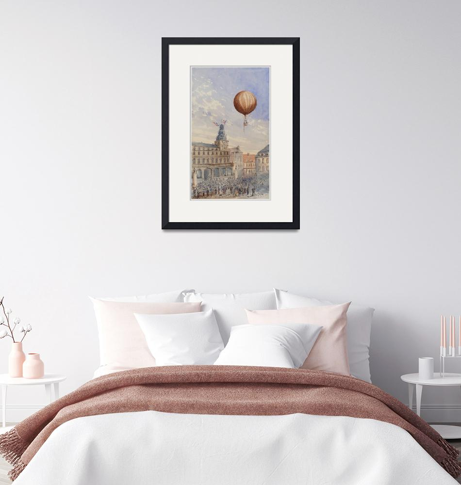 """""""Hot Air Balloon Illustration by Camille Gravis""""  by FineArtClassics"""