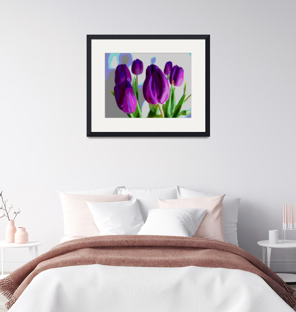 """Violet Tulips III"" (2014) by TheNorthernTerritory"