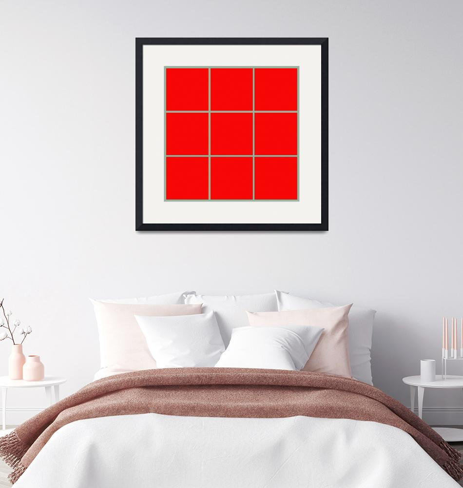 """Red Window 099 Canvas Contemporary Modern""  (2010) by Ricardos"