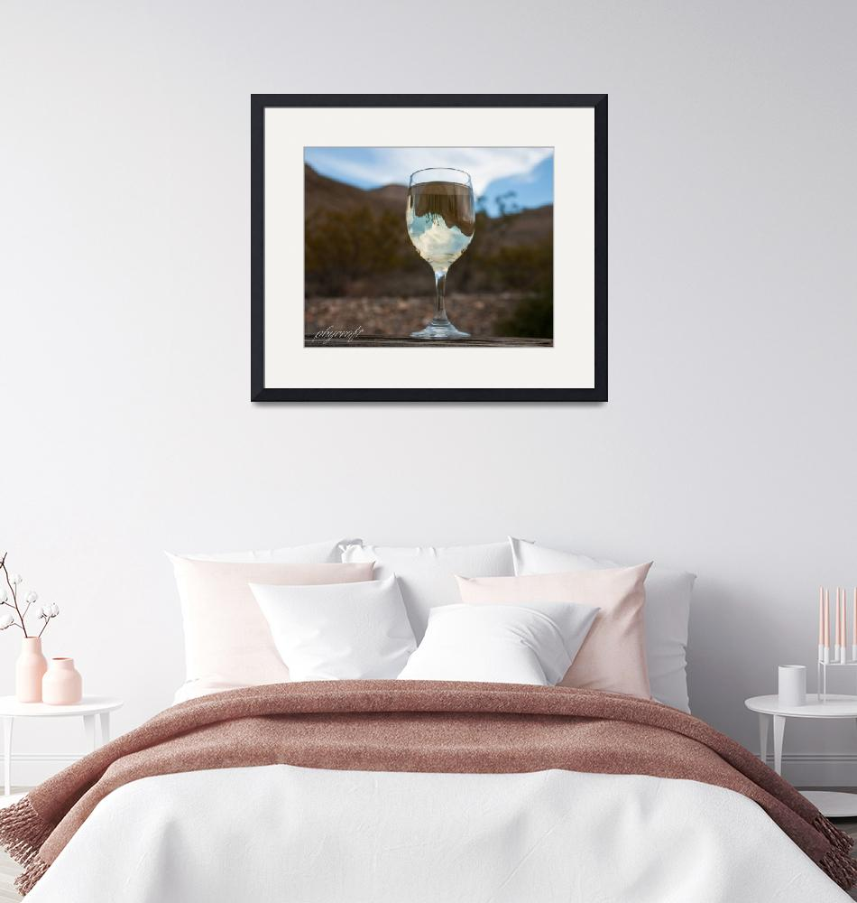 """There are mountains in my wineglass""  (2010) by pbycraftphotography"