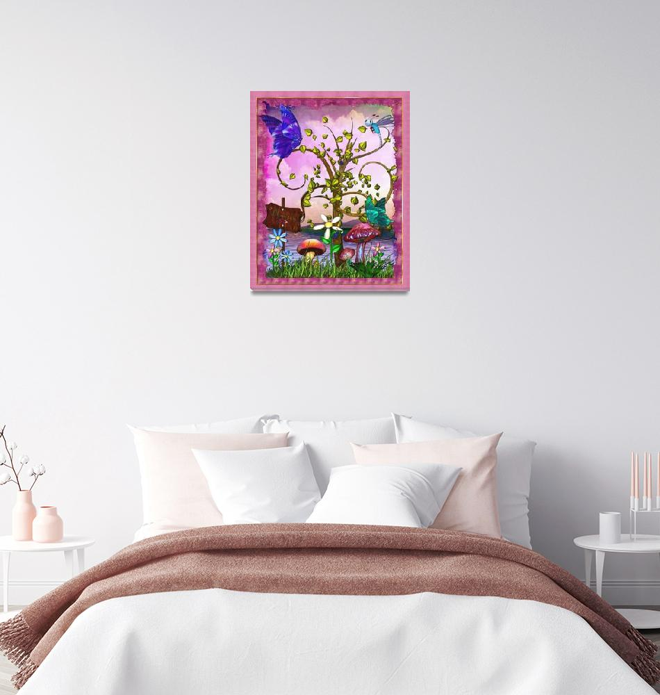 """Whimsey Gardens Fantasy Art""  (2011) by ReneeLozenGraphics"