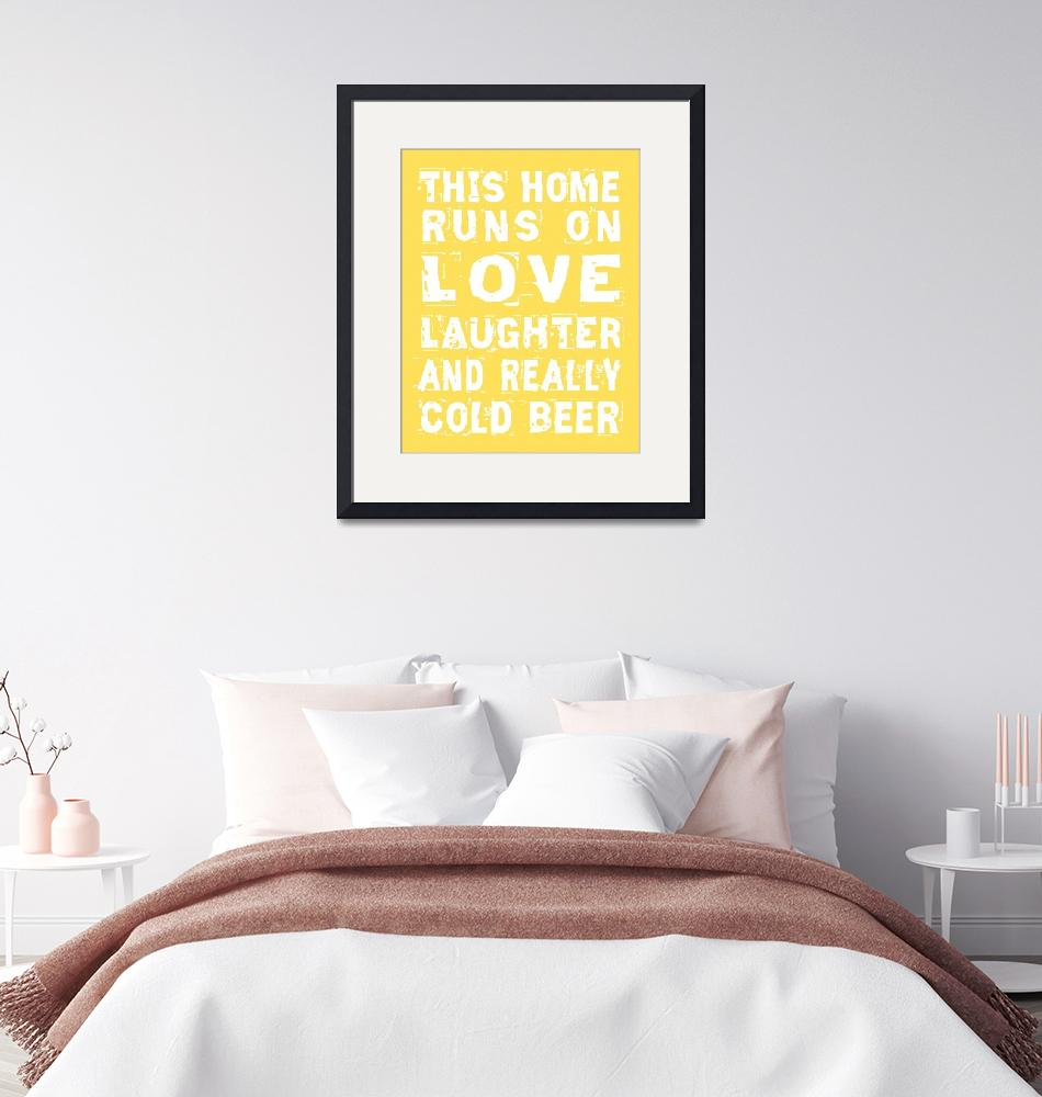 """""""Love and Cold Beer Poster""""  (2011) by designsbyjaime"""