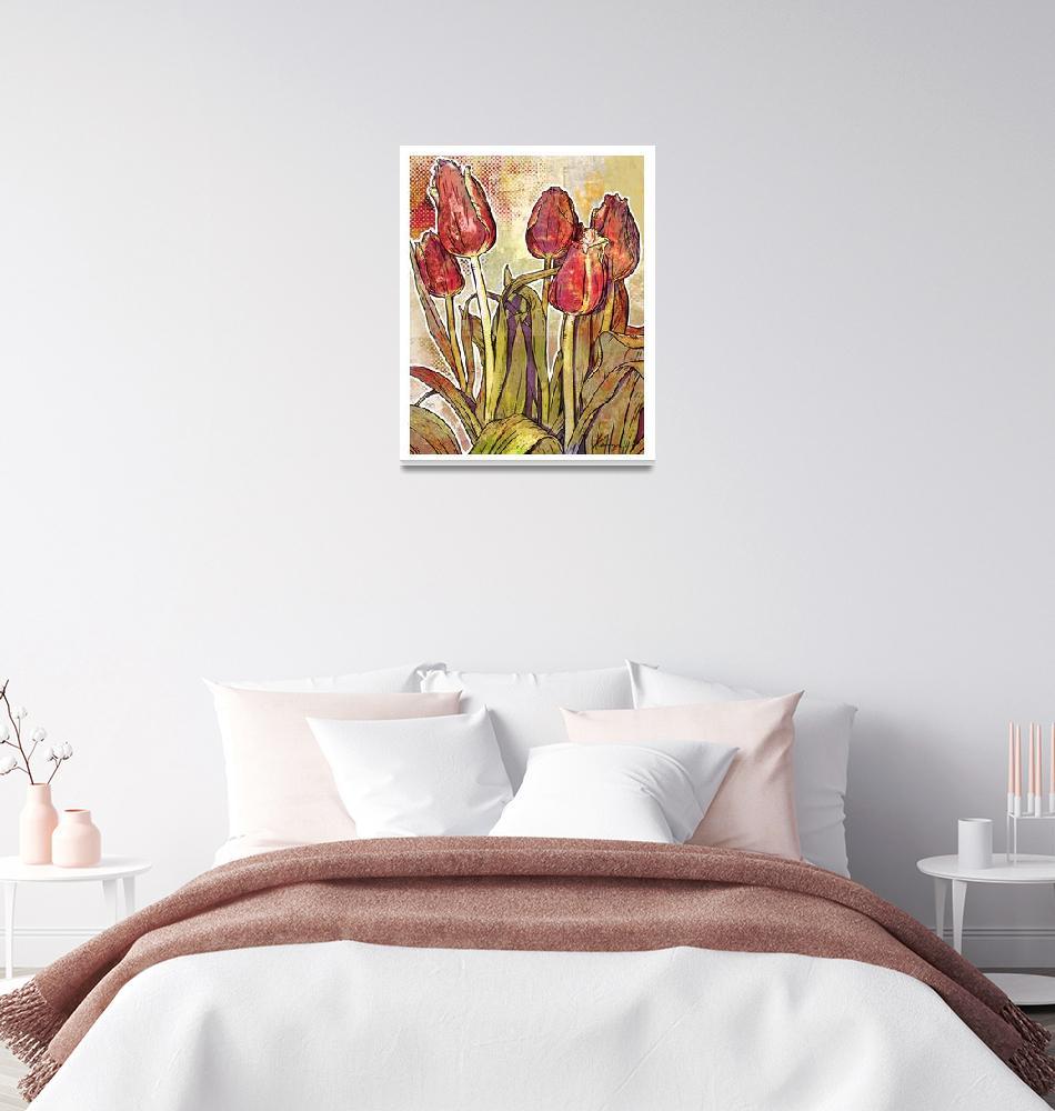 """""""Modern Florals: Tulips""""  (2009) by karynlewis"""