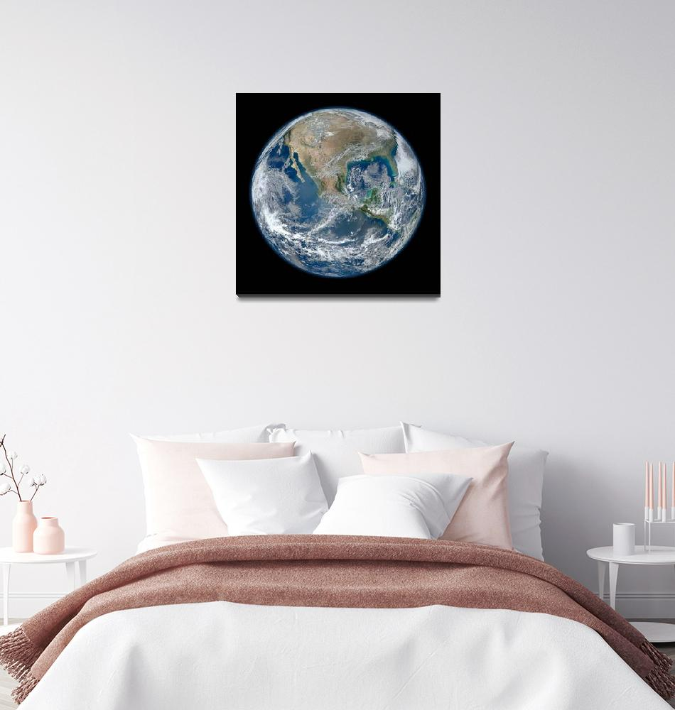 """""""Blue Marble North America""""  by motionage"""