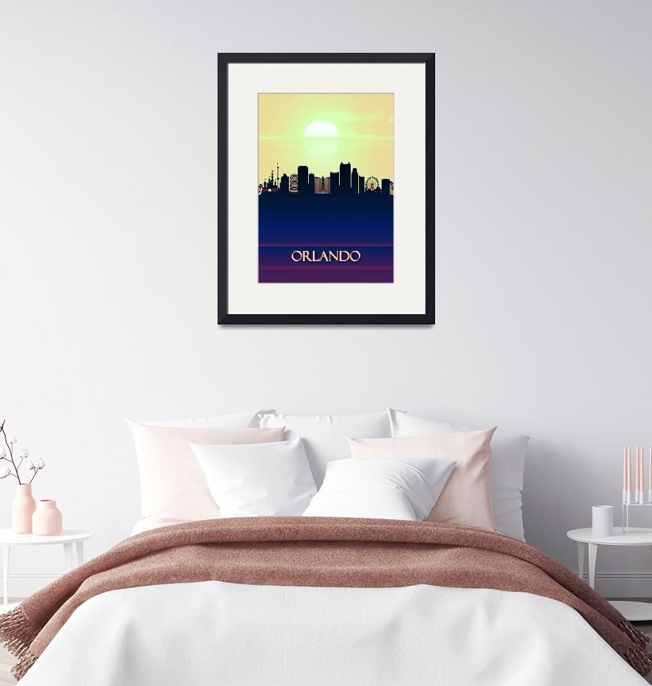 """Orlando City Skyline""  by Towseef"
