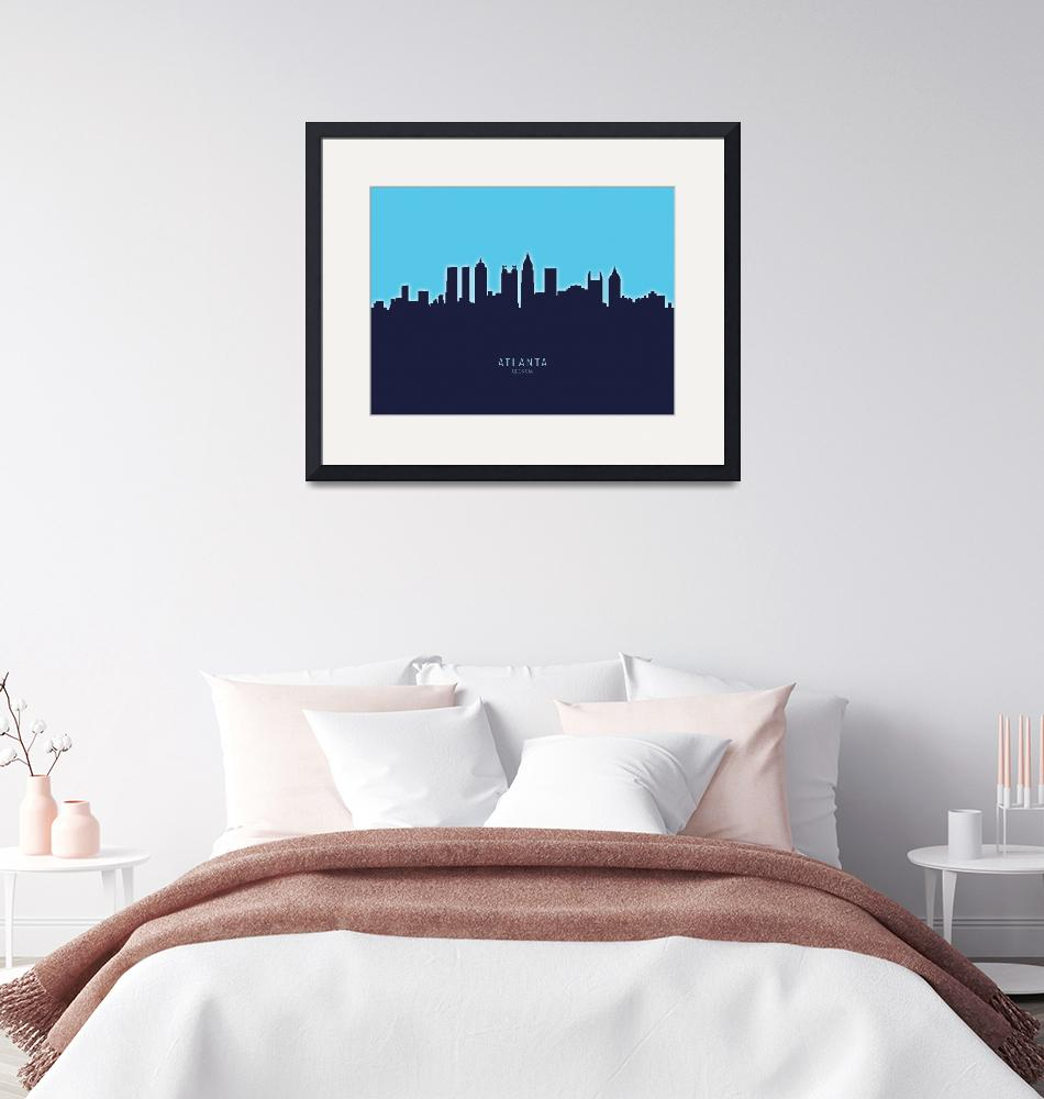 """Atlanta Georgia Skyline""  (2020) by ModernArtPrints"