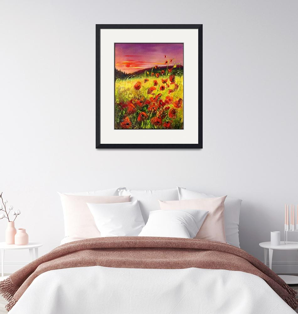 """""""Poppies at sunset""""  (2006) by pol"""
