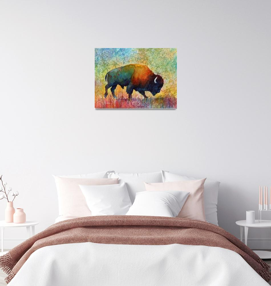 """American Buffalo 4""  (2014) by HaileyWatermedia"
