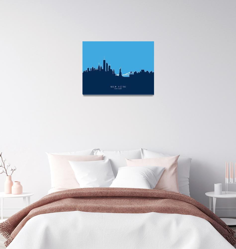 """New York Skyline""  (2014) by ModernArtPrints"