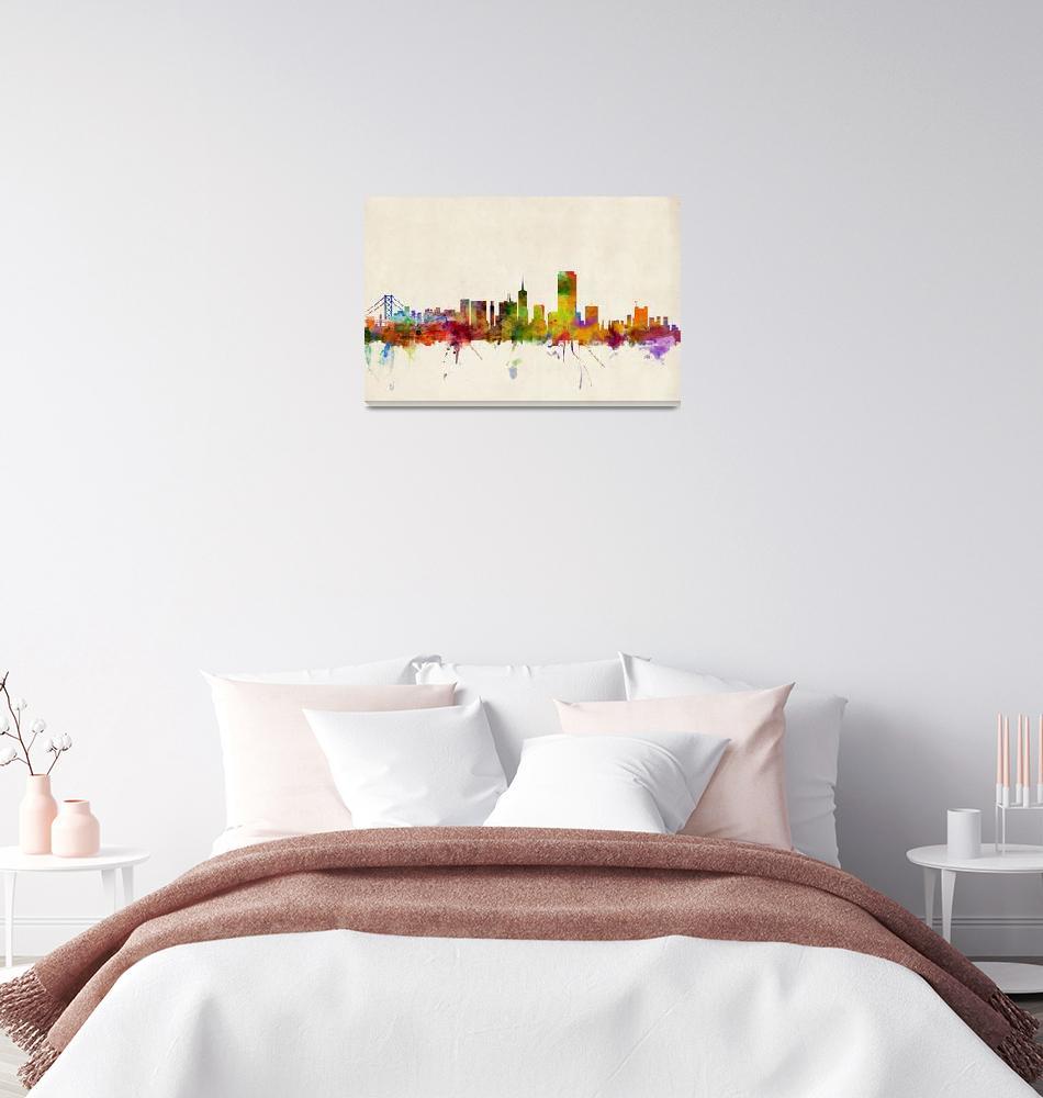 """""""San Francisco City Skyline""""  (2013) by ModernArtPrints"""