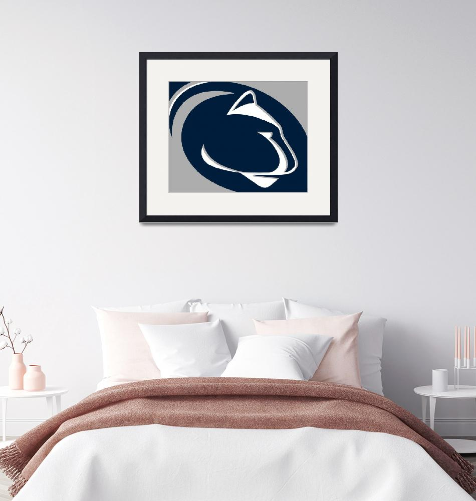 """""""Penn State Nittany Lions""""  by RubinoFineArt"""