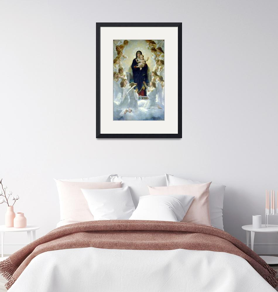 """""""Bouguereau The Virgin With Angels""""  by ArtistiquePrints"""