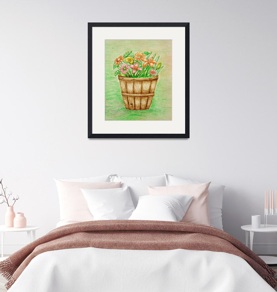 """""""basket of flowers""""  (2012) by thuraya"""