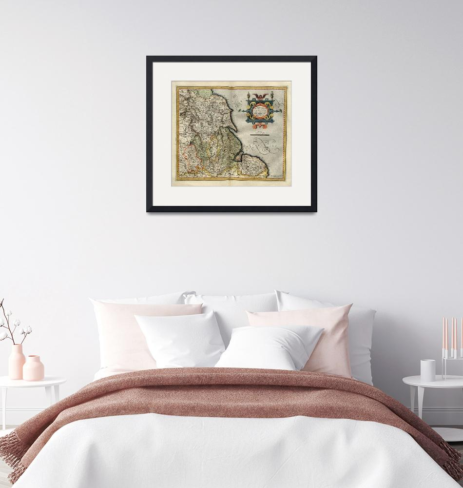 """""""1595 England map 3 by Mercator""""  by ArtistiquePrints"""