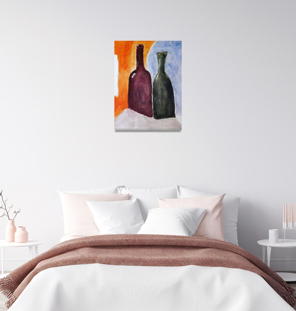 """""""Still life with bottles""""  (2010) by postpainting"""