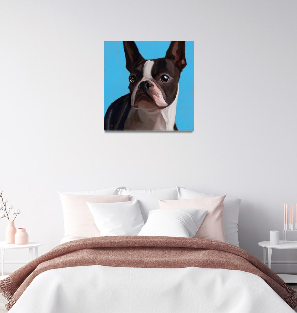 """Boston Terrier""  (2019) by tammyleebradley"