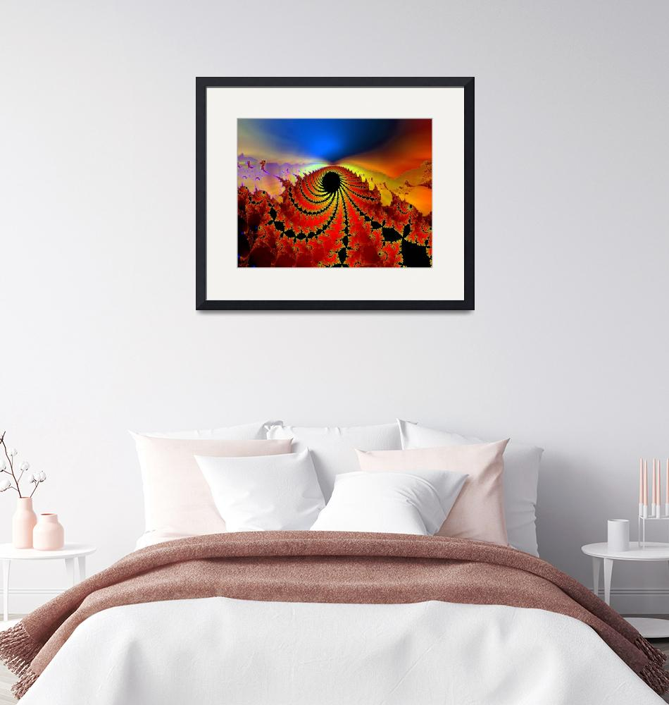 """""""Deep Midnight on Red Planet""""  by DolphinArts"""
