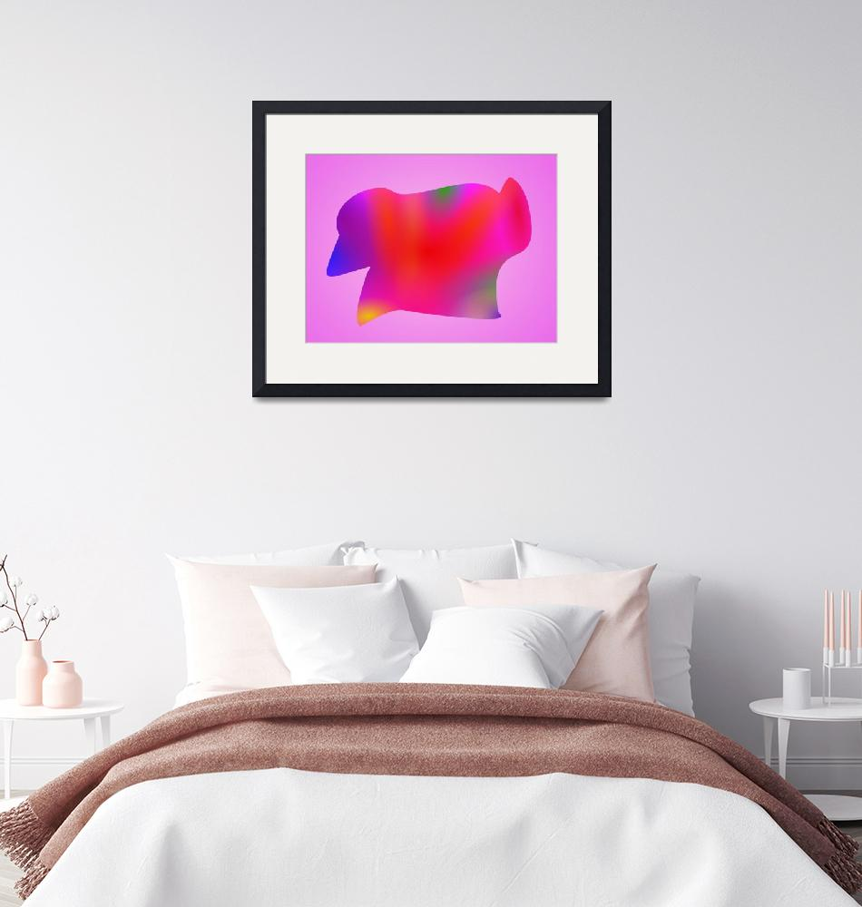 """""""Red Map Art Pink""""  by masabo"""