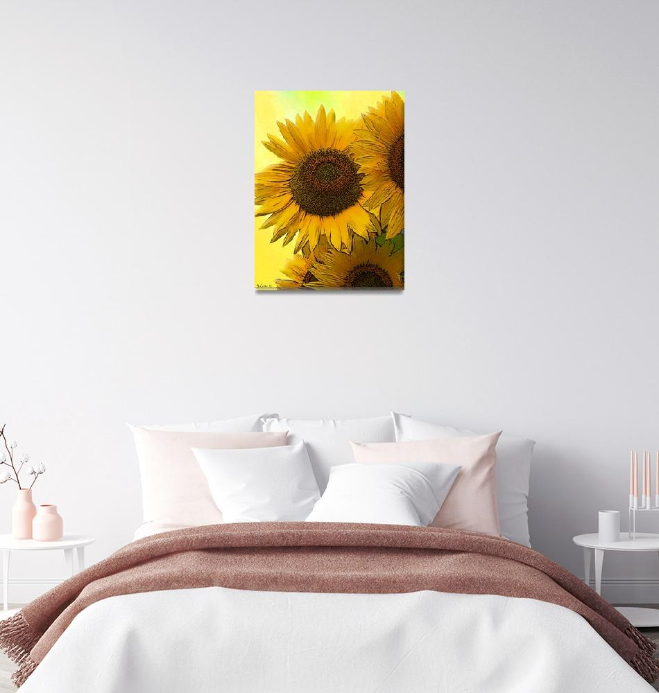 """""""Sun Flowers""""  (2011) by carlisconcepts"""