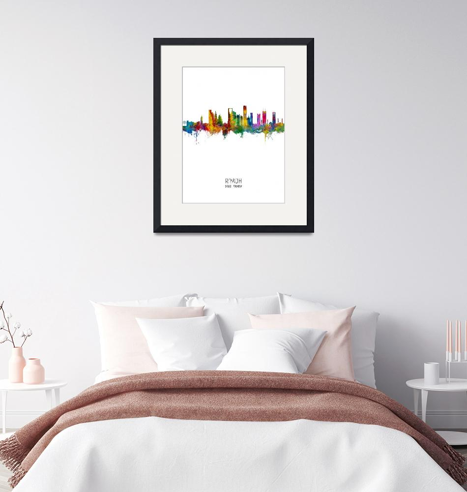 """Riyadh Saudi Arabia Skyline""  (2020) by ModernArtPrints"