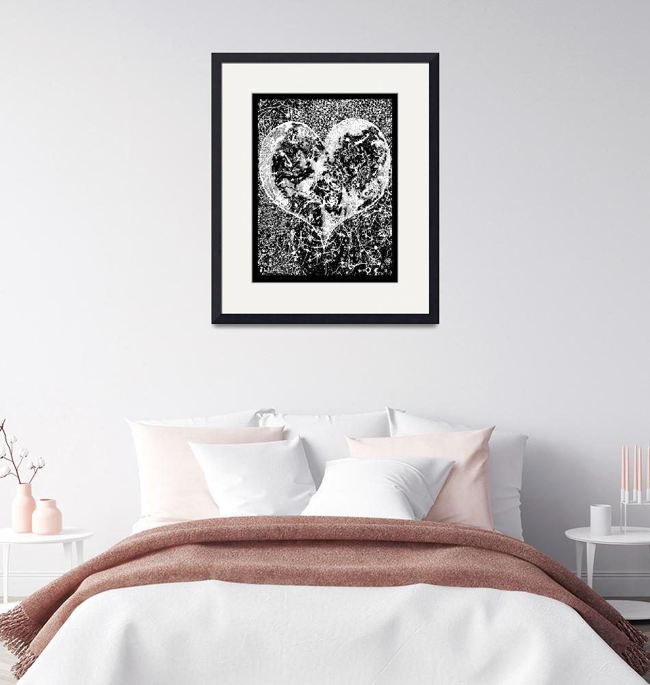 """""""""""Love Yourself"""" Heart shaped world, Ink 1990""""  (1990) by O"""