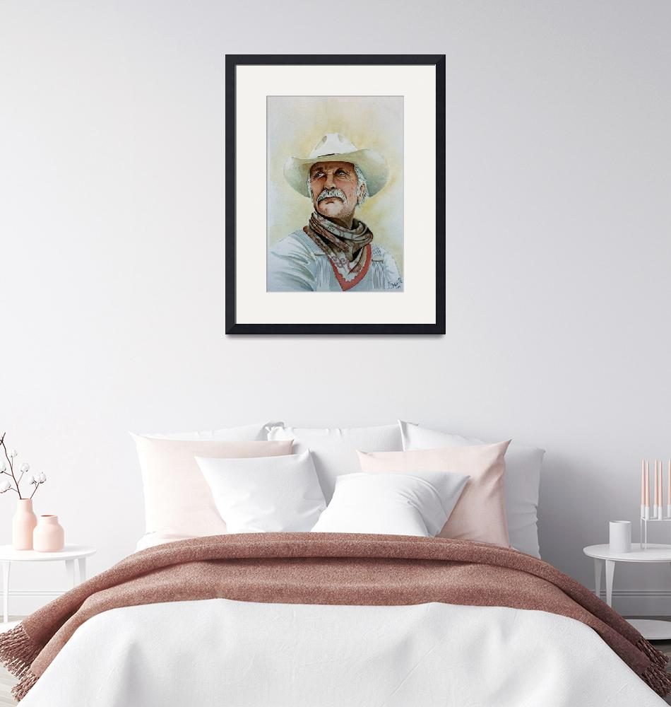 """""""Robert Duvall as Augustus McCrae in Lonesome Dove"""" (2009) by JimmySmith"""