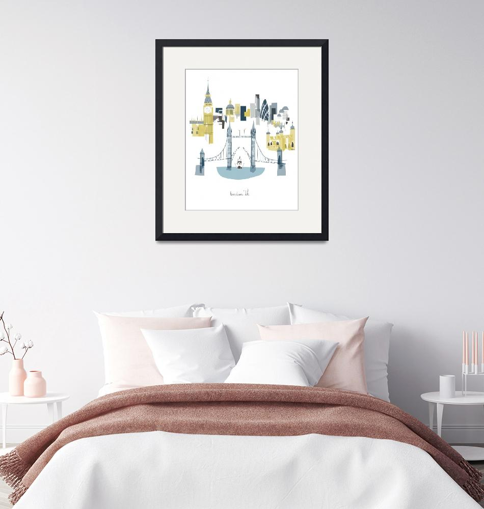 """London Modern Cityscape Illustration""  by AlbieDesigns"