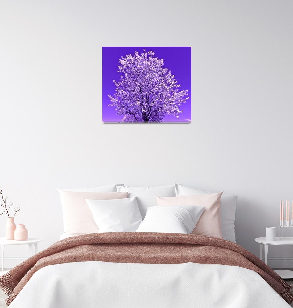 """tree 2 purples""  by lizmix"