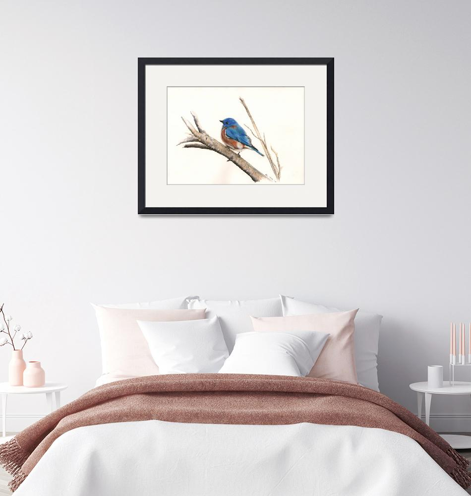 """Blue bird""  by KenVesey"